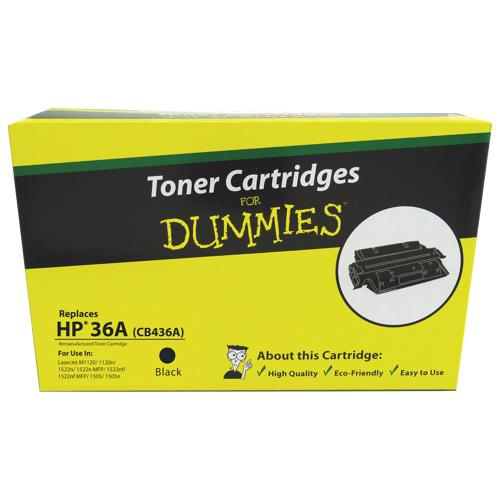 Toner Cartridges for Dummies HP 36A Black Toner (DHR-CB436A)