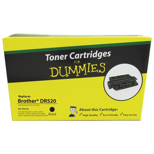 Cartouche de poudre d'encre noire Brother DR520 For Dummies (DBR-DR520)