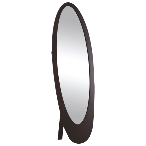 miroir en pied ovale de monarch i3360 cappuccino