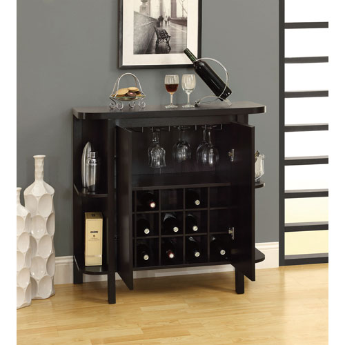 meuble bar contemporain brun cappuccino buffets et armoires best buy canada. Black Bedroom Furniture Sets. Home Design Ideas