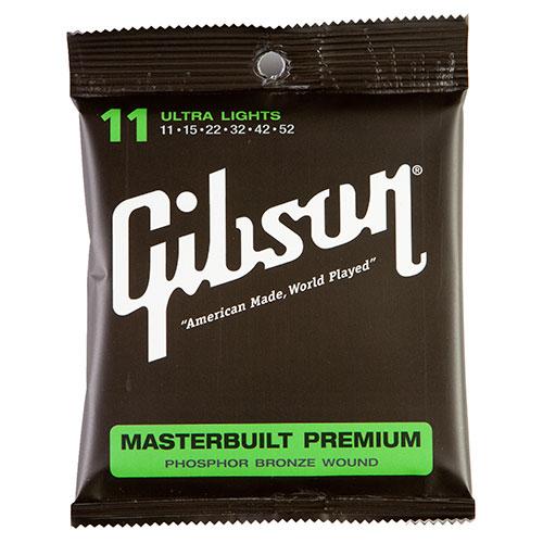 Gibson Masterbuilt Premium Phosphor/ Bronze .011 - .052 Acoustic Guitar Strings (SAG-MB11)
