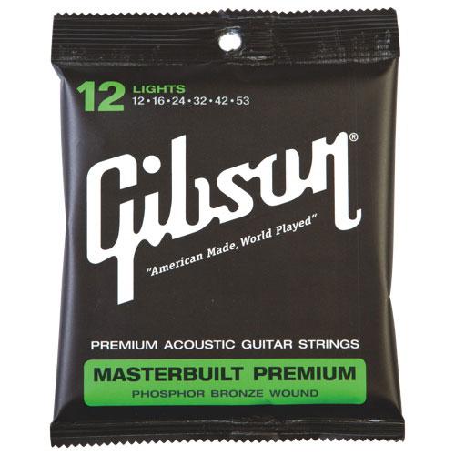 Gibson Masterbuilt Premium Phosphor/ Bronze .012 - .053 Acoustic Guitar Strings (SAG-MB12)