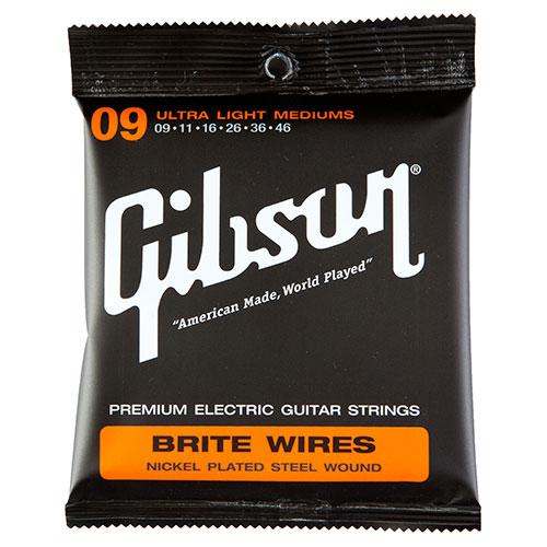 Cordes de guitare électrique Brite Wires .009 - .046 de Gibson (SEG-700ULMC)