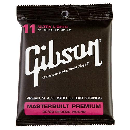 Cordes de guitare acoustique Masterbuilt 80/20 .011 - .052 de Gibson (SAG-BRS11)