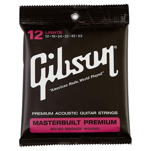Cordes de guitare acoustique Masterbuilt 8020 .012 - .053 de Gibson (SAG-BRS12)
