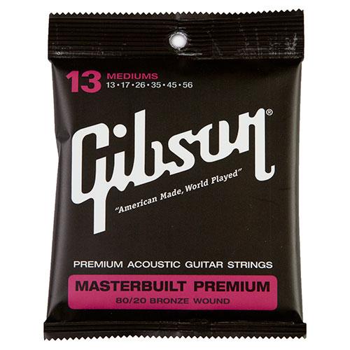Cordes de guitare acoustique Masterbuilt 8020 .013 - .056 de Gibson (SAG-BRS13)