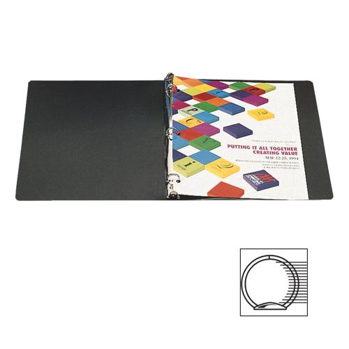 """Acco 1"""" Semi-Rigid Ring Binder (ACC39711) - Black"""