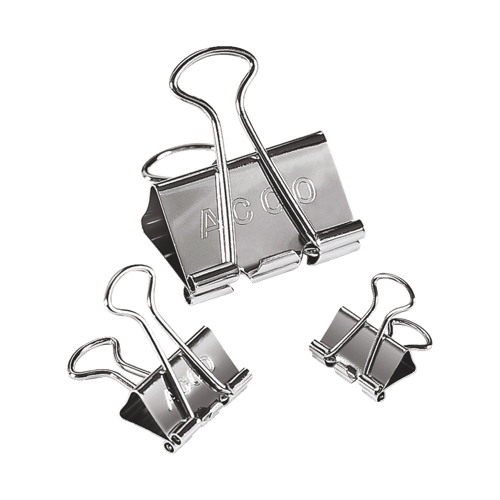 Acco Assorted Presentation Binder Clips (ACC71138) - Silver