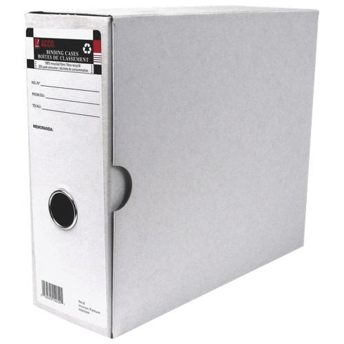 Boîte de classement pour facture n° 6 d'Acco (ACC14054) - Paquet de 6 - Blanc
