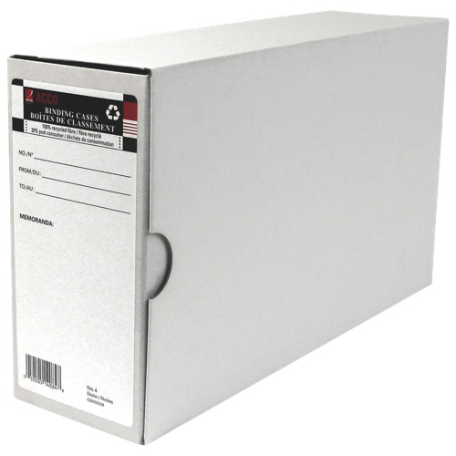 Acco No. 4 Invoice Binding Case (ACC14084) - 6 Pack - White