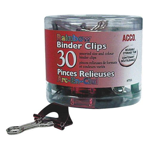 Pinces relieuses repliables d'Acco - Tailles assorties (ACC77555) - Paquet de 30