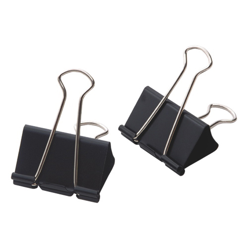 Acme United Sure-Grip Triangular Fold Back Binder Clips (ACM11214) - 12 Pack - Black