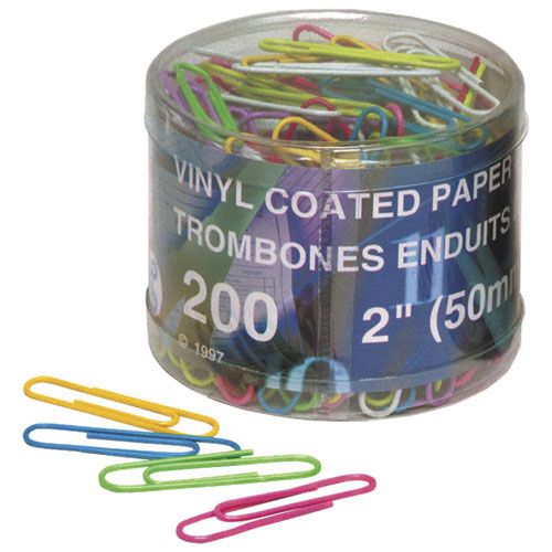 Acme United Paper Clips (ACM90827) - 200 Pack - Assorted Colours