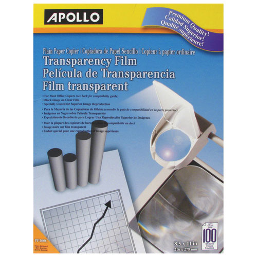 Apollo Transparency Film (APO09222) - 100 Pack