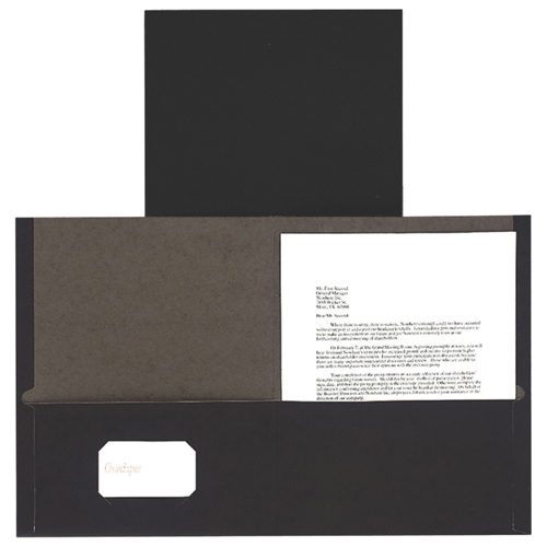 Portfolio Twin-Pocket d'Esselte (ESS00572) - Noir