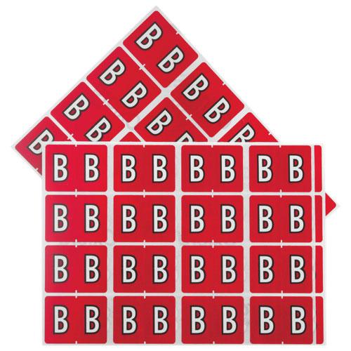 "Esselte Shelf Folder Labels (ESS06602) - 240 Pack - ""B"" - Red"