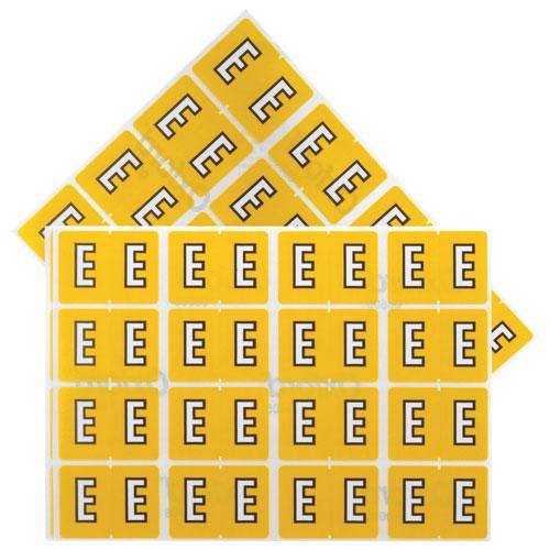 Étiquettes pour chemise de classement (ESS06605) - Paquet de 240 - E - Jaune