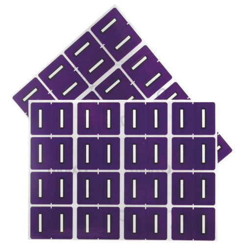 "Esselte Shelf Folder Labels (ESS06609) - 240 Pack - ""I"" - Purple"