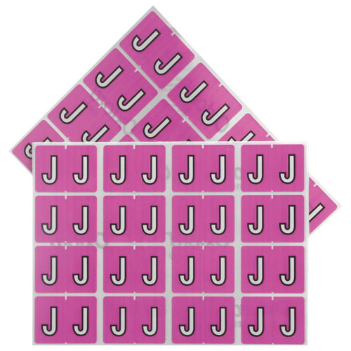 "Esselte Shelf Folder Labels (ESS06610) - 240 Pack - ""J"" - Lilac"