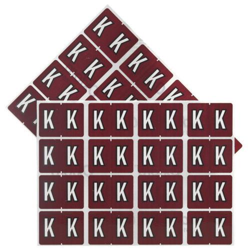 """Esselte Shelf Folder Labels (ESS06611) - 240 Pack - """"K"""" - Brown"""