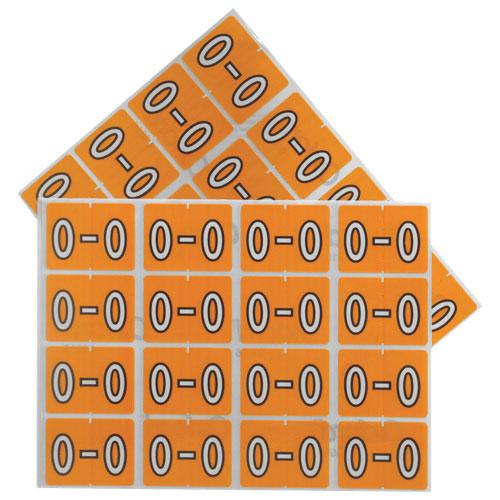 "Esselte Shelf Folder Labels (ESS06616) - 240 Pack - ""O"" - Light Orange"