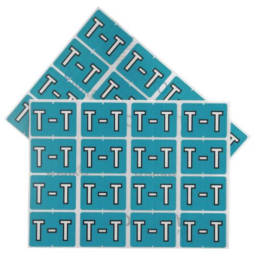 "Esselte Shelf Folder Labels (ESS06621) - 240 Pack - ""T"" - Light Blue"