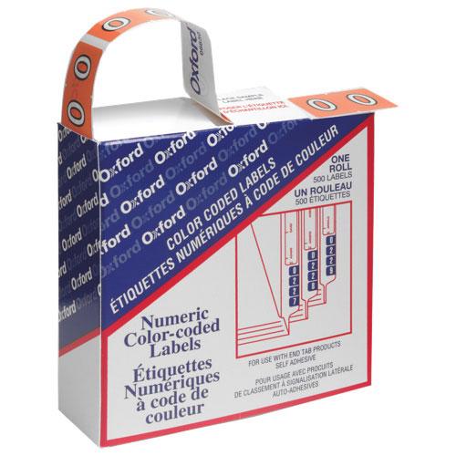 Esselte Numeric Shelf Folder Labels (ESS06630) - 500 Pack - Pink