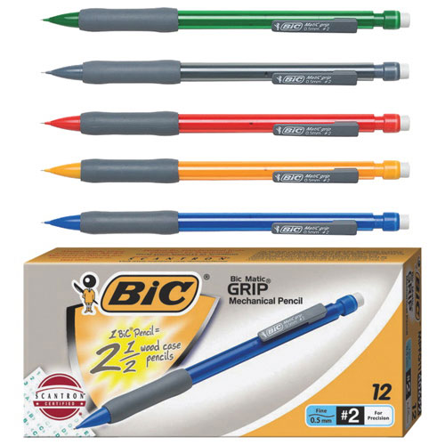 BIC Bicmatic 0.5mm Grip Mechanical Pencil (BICMPFG11) - 12 Pack