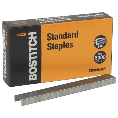 Stanley Bostitch Chisel Point Standard Staples (BOSSBS1914CP) - 5000 Pack