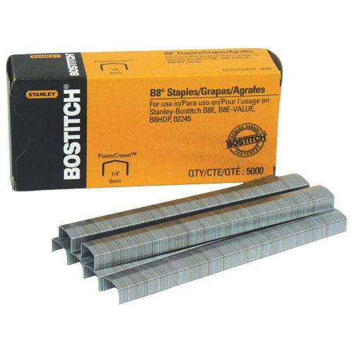 Agrafes PowerCrown B8 de Stanley Bostitch (BOSSTCRP2115) - Paquet de 5 000