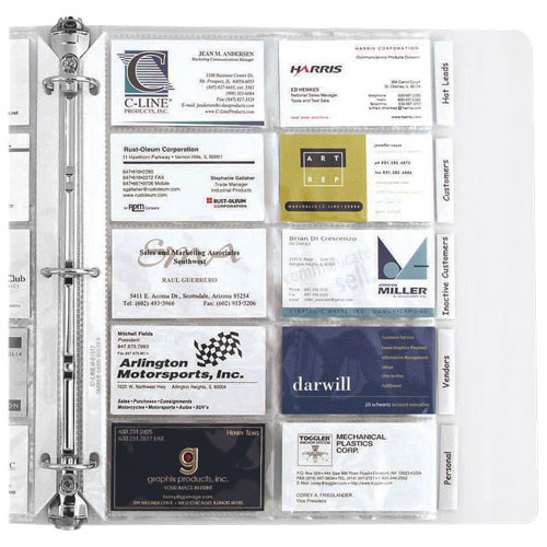 C-line Business Card Refill Pages (CLI61117)