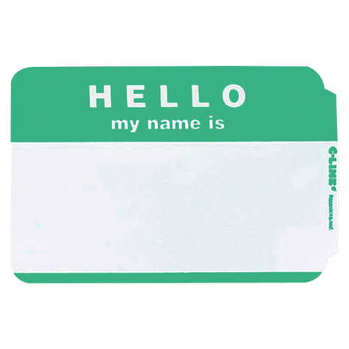 """C-line """"Hello My Name Is"""" Badges (CLI92233) - 100 Pack"""