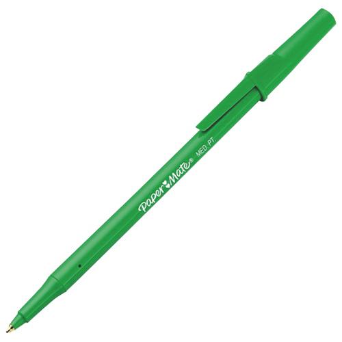 Paper Mate Medium Ballpoint Pen (PAP3341131) - 12 Pack - Green