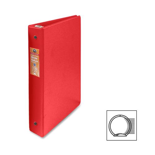 Cartable à anneaux de 1 po Economy de Wilson Jones (WLJ13539) - Rouge