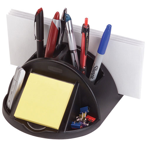 Bac de rangement à 6 compartiments pour tiroir Regeneration de Rubbermaid (RUB86024) - Noir