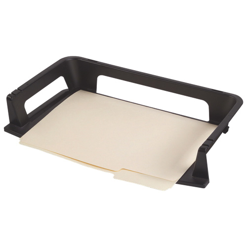 Rubbermaid Regeneration Plastic Letter Tray (RUB86027) - Black