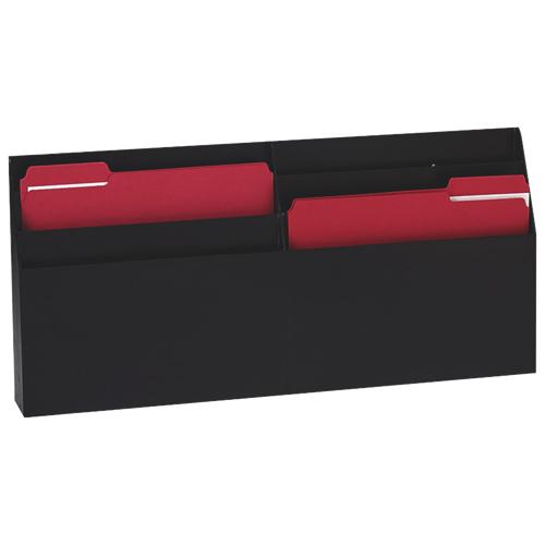 Classeur mural ou de bureau à 6 pochettes de Rubbermaid (RUB96060ROS) - Noir