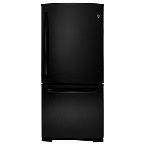 "GE 29.75"" 20.3 Cu. Ft. Bottom Mount Refrigerator (GBR20DTERBB) - Black"