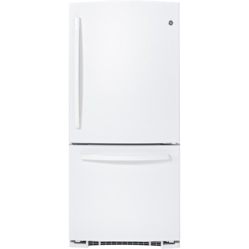 "GE 29.75"" 20.3 Cu. Ft. Bottom Mount Refrigerator (GDR20DTERWW) - White"