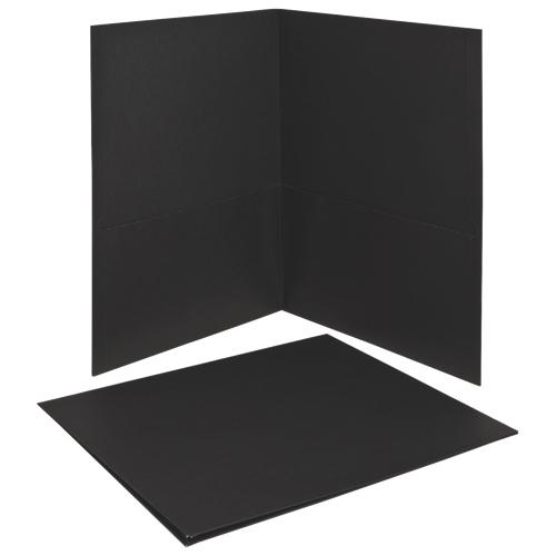 Esselte Oxford Twin-Pocket Folders (ESS57506) - 25 Pack - Black