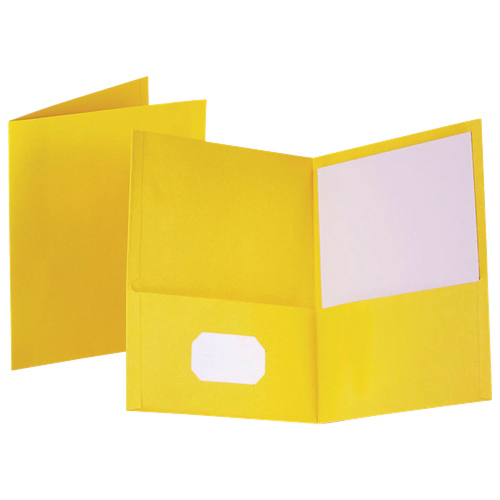 Esselte Oxford Twin-Pocket Folders (ESS57509) - 25 Pack - Yellow