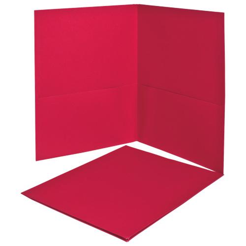 Dossiers Oxford à deux pochettes d'Esselte (ESS57511) - Paquet de 25 - Rouge