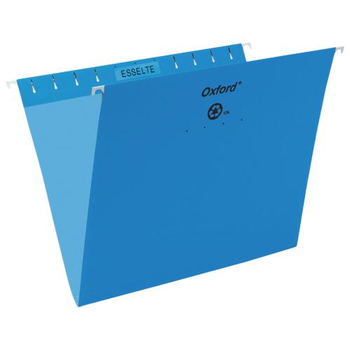 Esselte Oxford Hanging File Folder (ESS91803) - Letter - 25 Pack - Blue