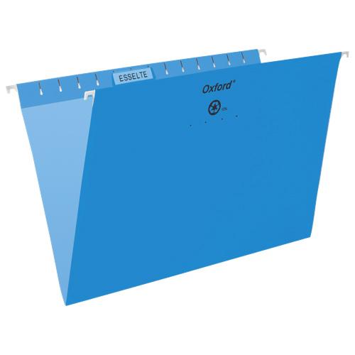 Chemises suspendues Oxford d'Esselte (ESS91833) - Légal- Paquet de 25 - Bleu