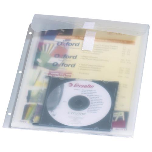 Esselte Stash-It Binder Pocket (ESS98733C) - Letter - Ice White
