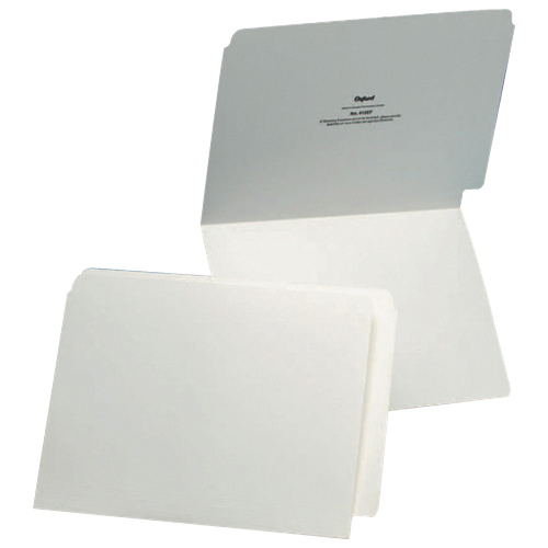 Chemise de classement avec onglet d'Esselte (ESS413EF) - Lettre - Paquet de 100 - Ivoire
