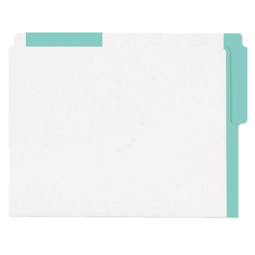 Esselte Color Coded Top End-Tab File Folder (ESS413E-GRN) - Letter - 100 Pack - Green