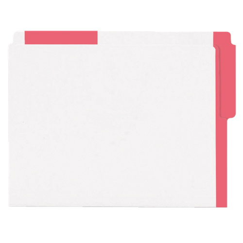 Esselte Color Coded Top End-Tab File Folder (ESS413E-RED) - Letter - 100 Pack - Red