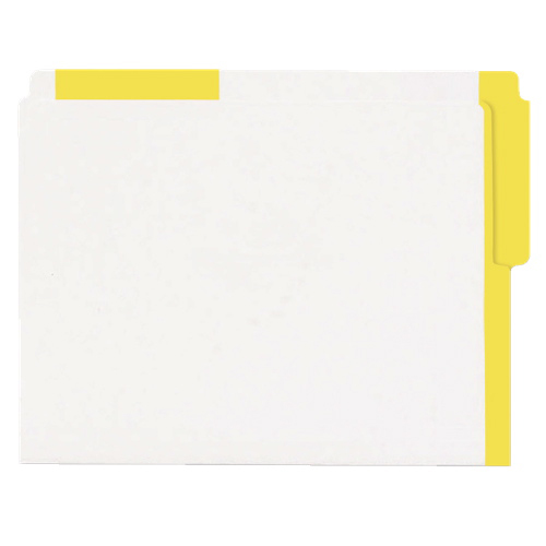Esselte Color Coded Top End-Tab File Folder (ESS413E-YLW) - Letter - 100 Pack - Yellow