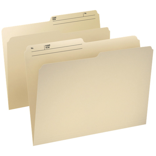 Esselte Cutless Watershed Top Tab File Folder (ESS48430C) - Letter - 100 Pack - Manilla